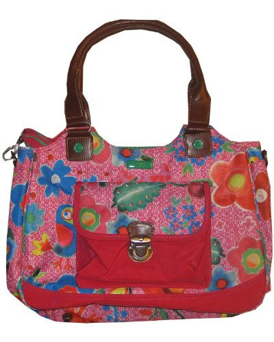 Oilily Funky Flowers M Carry All Pink