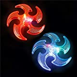 12 Light Up Ninja Star Flyer Set & 1 Vortex Eraser - Party Favors, Stocking Stuffers, Glow Parties, Youth Events