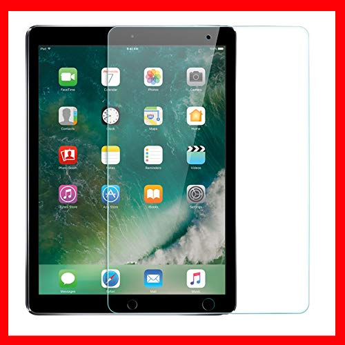 Pokanic - 2 Pack, iPad Air 2 / Air 1 / iPad Pro (2016) / iPad 6 / 5 / 4 Screen Protector 9.7' Apple Pencil Compatible HD Tempered Glass 9H Films, Anti-Scratch Anti-Fingerprint Easy Install Compatible with Apple iPad 9.7' (2 Pack)