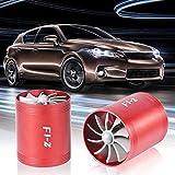 FAIYIWO Hot Fashion Universal Tornado Turbo Single Fan Air Intake Fuel Saver Fan Turbonator FAIYIWO Red, Size : Single Fan