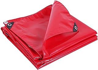 GRPB Rojo Impermeable Lona Lienzo Impermeable al Aire Libre Adecuado para Acampar jardín Cubierta del Coche toldo Estera de Playa Militar niño Juguete Mat Piso Lonas (Tamaño : 4mx4m)