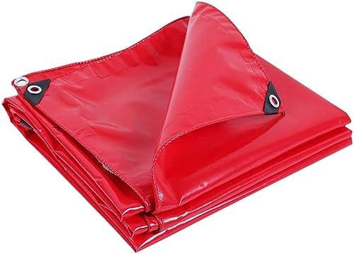 GRPB Toile imperméable Rouge de Toile de bache imperméable Rouge de Jardin extérieur approprié au bache de Prougeection de Jardin de Camping Jardin (Taille   4mx6m)