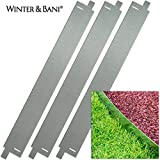 Winter & Bani - Bordura para césped, 3unidades, metal,...