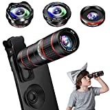 Phone Camera Lens Kit, 5 in 1 Cell Phone Lens - 12X Zoom...