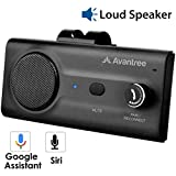 Avantree CK11 Car Bluetooth Speaker with Loud Speakerphone, Support Siri Google Assistant & Auto On Off, Volume Knob, Wireless Car Kit with Visor Clip