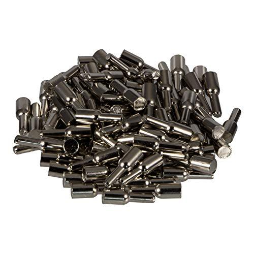 Gedotec Tablarträger Fachbodenträger Saphir | Bohr-Ø 3 mm | Regal-Bodenträger für Holzböden | Regal-Halterung zum Einstecken | Regalträger Stahl verzinkt | 100 Stück - Regal-Stifte für Holztablare
