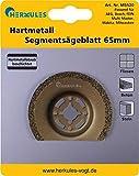 Herkules M5520 - Hoja de sierra de segmento para azulejos, piedra y hormigón (diémtro=65 mm, metal endurecido, acodada)