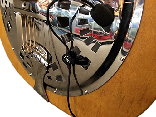 The Feather Dobro Round Neck Resonator Guitar Pickup with Flexible Micro-Gooseneck by Myers Pickups