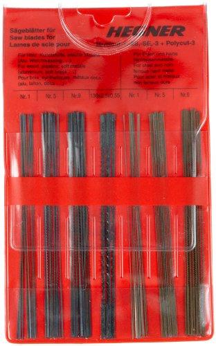 Hegner 00000700 Laubsägeblatt-Sortiment für Holz, Kunststoffe und leichte Metalle