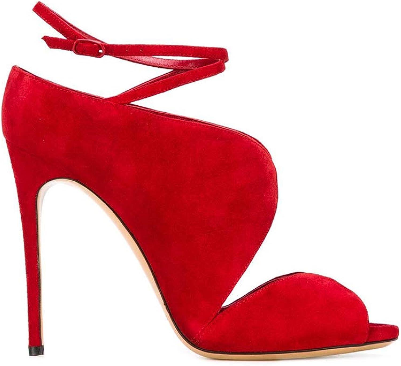 Women's Fish Mouth Open Toe Sandals Adjustable Shoulder Strap high Heels Bride Wedding Dress Comfortable and Elegant Sandals (Heel Height  12cm)
