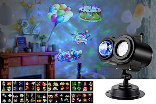 LED Projector Lights with 10 Colors Ocean Wave and 16 Theme Patterns,...