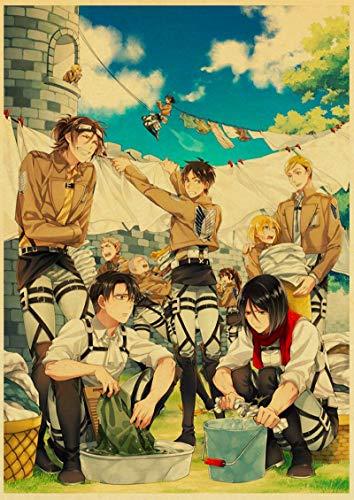 ALLYAOFA Classic Anime Attack Placa de Cartel de Chapa de Metal Gigante Home Bar Art Decoración Placa de Metal Colgante de Pared 7.8x11.8in (20cmx30cm) R