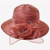 Mei XU Gorra Ancha para Mujer Cool Sun Protection Diseño Elegante de Flores Visor Plegable UV Transp...