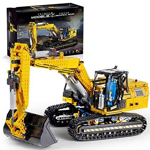 Conjunto de edificios de excavadora de cinturón de enlace de Technic, 1830 PCS 2.4GHz / APP Modelo de excavadora RC, bloque de construcción compatible con LEGO Technic, regalo para adultos y niños