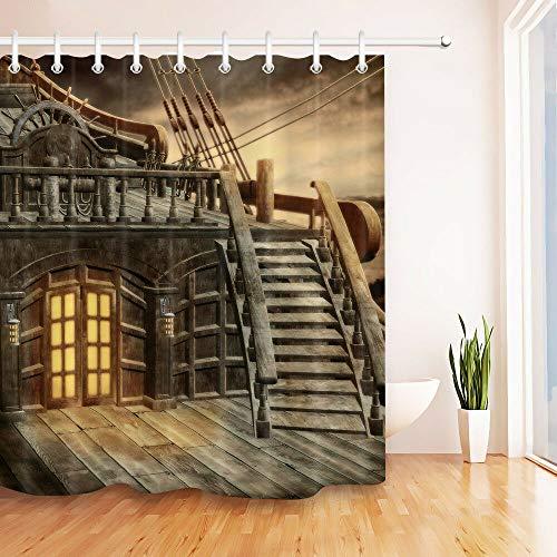 cortinas ducha rustica