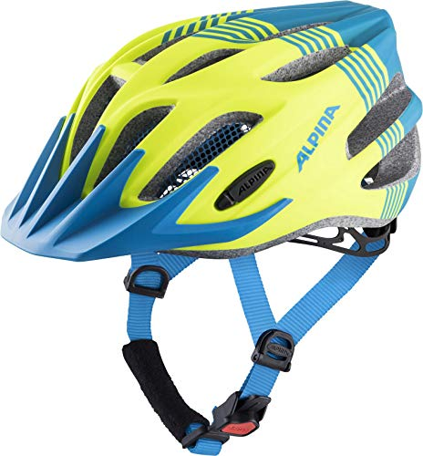 ALPINA FB JR. 2.0 LE Fahrradhelm, Kinder, neon-blue matt, 50-55