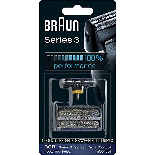 Braun 30B Ersatz-Scherkopf und Folie 30B/alte Version SERIES 3 mit SmartControl、 SyncroPro、 Syncro、 TriControl, für 4735 4775 4875 4835 7505 7630 7680 7790