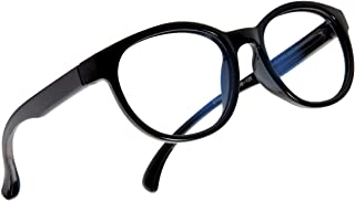 Leaead Blue Light Blocking Glasses BluErase Lens Silicone Frame Anti Eyestrain Computer/Gaming/TV/Phones Glasses for Kids(Black)