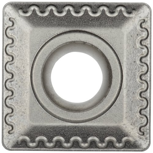 """Sandvik Coromant COROMILL Carbide Milling Insert, 345R Style, Square, H13A Grade, Uncoated, 345R1305EKL,0.22"""" Thick, 0.032"""" Corner Radius (Pack of 10)"""