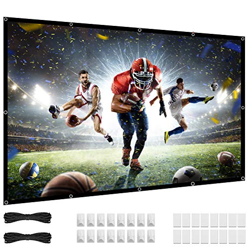84 Zoll Beamer leinwand, 16:9 HD, 4K Projektionsleinwand, 80 Projektor Leinwand knitterfrei, tragbar, für den Innen- und Außenbereich, Heimkino