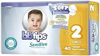BBtips Sensitive, Unisex, Talla 2 Chico, 40 Pañales Desechables