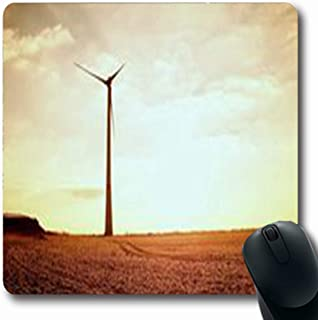 Pandarllin Mousepads Square Modern Wind Turbines Producing Infrastructure Energy Sunny Blur Industrial in Oblong Shape 7.9