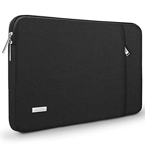 TECOOL 13 Zoll Laptop Hülle Tasche Ultrabook Schutzhülle Sleeve für 2018 2019 Neu MacBook Air/Pro 13, HP Envy 13, Dell xps 13, ASUS ZenBook 13, Huawei MateBook 13, 12,3 Surface Pro, Schwarz