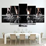 HD Print Canvas Painting Home Decorative 5 Panel Strong Man Exercise Picture Wall Art Prints Panels Poster For Living Room