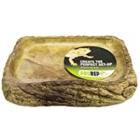 The ProRep Tortoise Feed Dish Large is a realistic, attractive and easy to clean resin bowl.