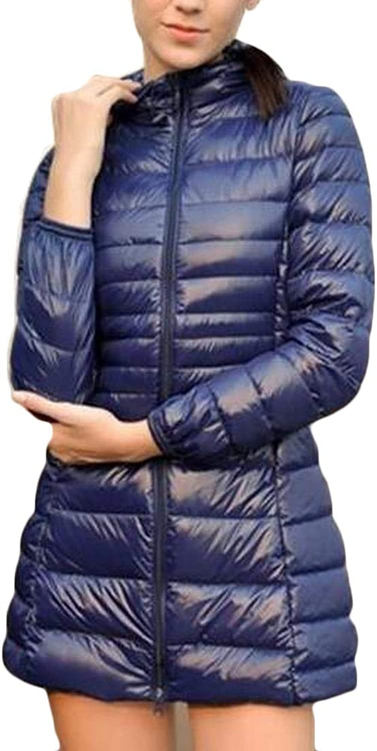 Alion Women Casual Packable Slim Fit Long Parka Puffer Down Coats