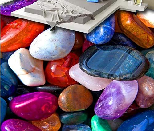 Yosot Aangepaste 3D Vloertegels Stone Pebbles Wallpapers voor Woonkamer 3D Vloeren Waterdicht Behang Vinyl Vloeren Lijmen 350cmx245cm
