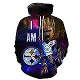 nayingying hoodies Men/Women's Steelers Seahawks Packers 3D Print Sweatshirts Harajuku Pullover Long Sleeve Hoody 3503 M