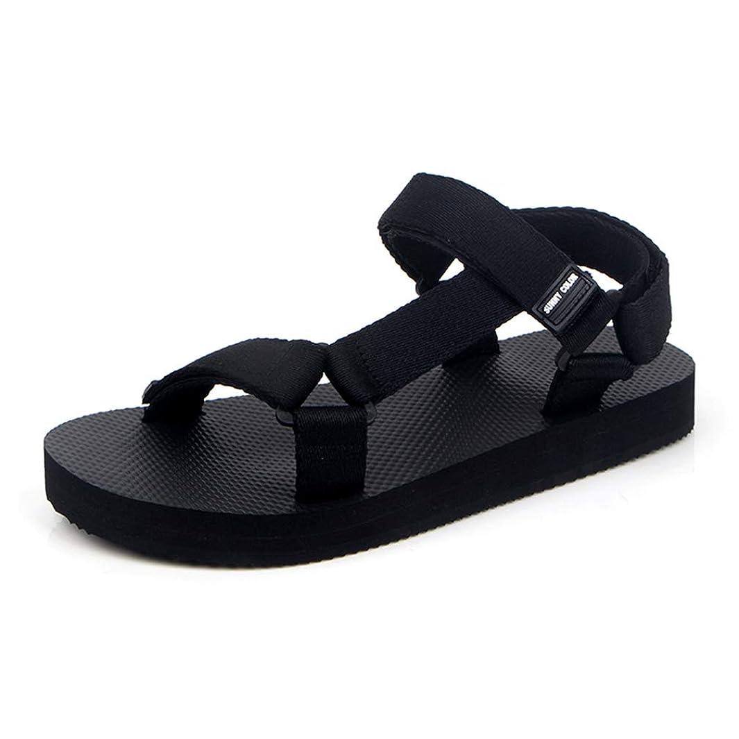 女優評価するマウスピース[HSFEO] サンダル マジックテープ メンズ シンプル ビーサン レディース カップル シンプル フラットシューズ ローマ風 夏靴 ビーチ 軽量 歩きやすい カジュアルシューズ 履きやすい サマー