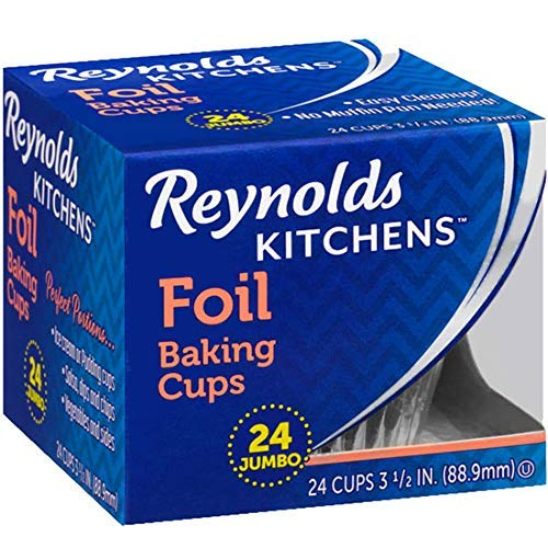 Reynolds Baking Cups, Foil, Jumbo, 3 1/2 In (3 Pack- 72 Count)