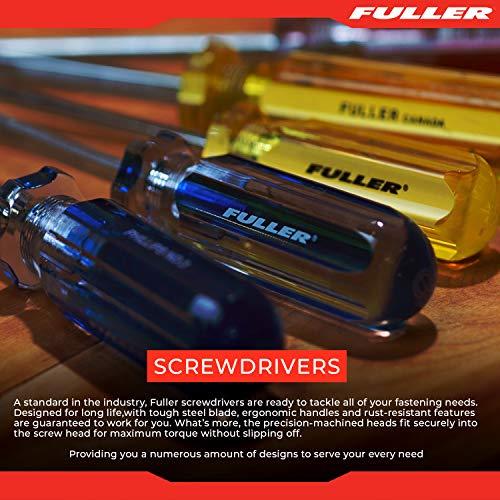 Fuller Tool 111-3000 7-Piece PRO 300 Screwdriver Set - screwdriver kit long screwdrivers phillips mechanics flat head long flathead Slotted square