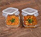 Cutting EDGE Borosilicate Glass Food Container with Air Vent Lid for Kitchen, Food