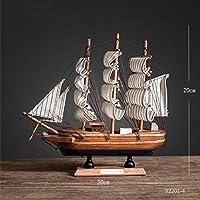 LEDライトカリブ海ブラックパール海賊船木製セーリングモデル