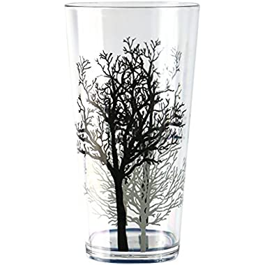 Corelle Coordinates by Reston Lloyd Timber Shadows Acrylic Tumbler Glasses, 19-Ounce, Set of 6