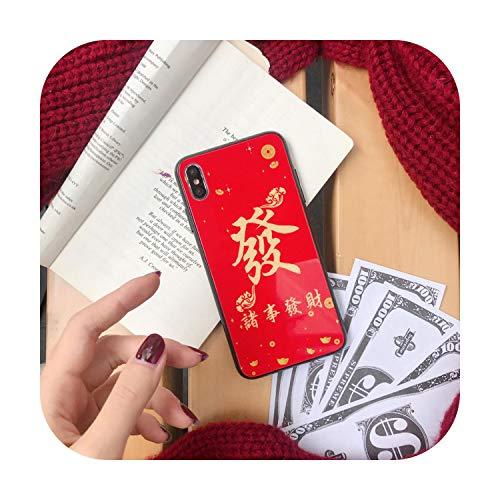 Ocean Beach Red Fortune - Funda blanda para iPhone 7 8 Plus X XR XS MAX (TPU), color rojo