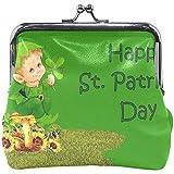 Olive Croft Portamonete Beautiful Saint Patrick 'S Day Wish Portafoglio Donna Pochette Bambina Borsa Piccola