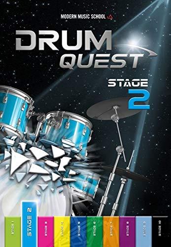 Drum Quest Stage 2: Die Schlagzeugschule für Anfänger - Ganz einfach Schlagzeug lernen mit dem Schlagzeug Songbuch mit Bonus-Material (Band 2)