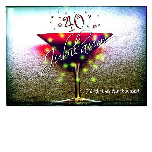 DigitalOase Jubiläumskarte 40. Jahrestag 40. Jubiläum Glückwunschkarte Geburtstagskarte Grußkarte Format DIN A4 A3 Klappkarte PanoramaUmschlag #KELCHR