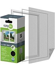 easy life Vliegengaas voor ramen, insectenbescherming, vliegennet met 5,6 m klittenband, muggenbescherming, flexibel, eenvoudig aan te brengen, gemakkelijk te verwijderen, scheurvast, merkkwaliteit