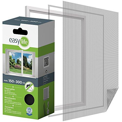 Mosquitera para ventana de 300 x 150 cm de insectos de la protección de la ventana se puede cortar