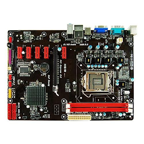 SYFANG La Placa Base Fit for Biostar H61B Compatible con los procesadores de Arquitectura Core I7 / I5 / I3 1155 de Segunda generación de Intel(Color:A)