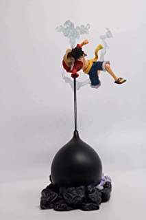 LF-YGJ Estatua de Anime 26 CM Anime One Piece Gear Fourth Scultures Big Monkey D Luffy Battle Fighting Color Especial PVC ...