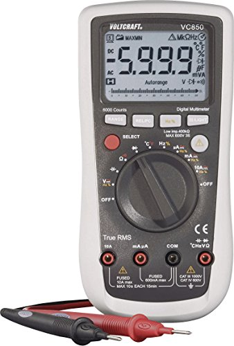 VOLTCRAFT VC850 Hand-Multimeter digital CAT III 1000 V, CAT IV 600 V Anzeige (Counts): 6000