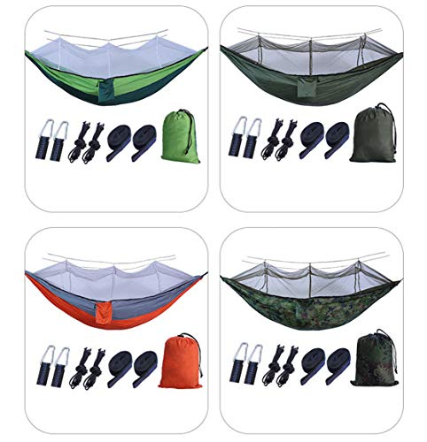 Mikelabo Camping Hammock With Mosquito Net - Outdoor Travel Hammock For Camping Hiking Backpacking, Garden La Siesta Hammock Covacure Hammock Swing Chair