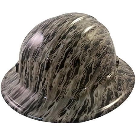 Custom Hydrographic Wide Brim Safety Hard Hat SMOKING ACES