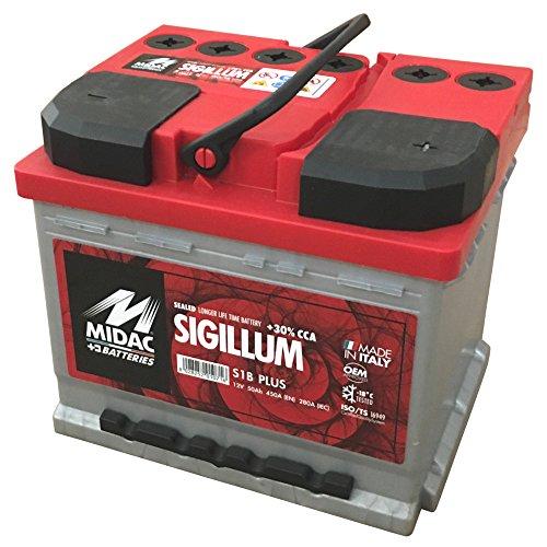 MIDAC SIGILLUM Starterbatterie S1B Plus 12V 45AH Doppeldeckel EINZELZELLEN-Labyrinth Batterie
